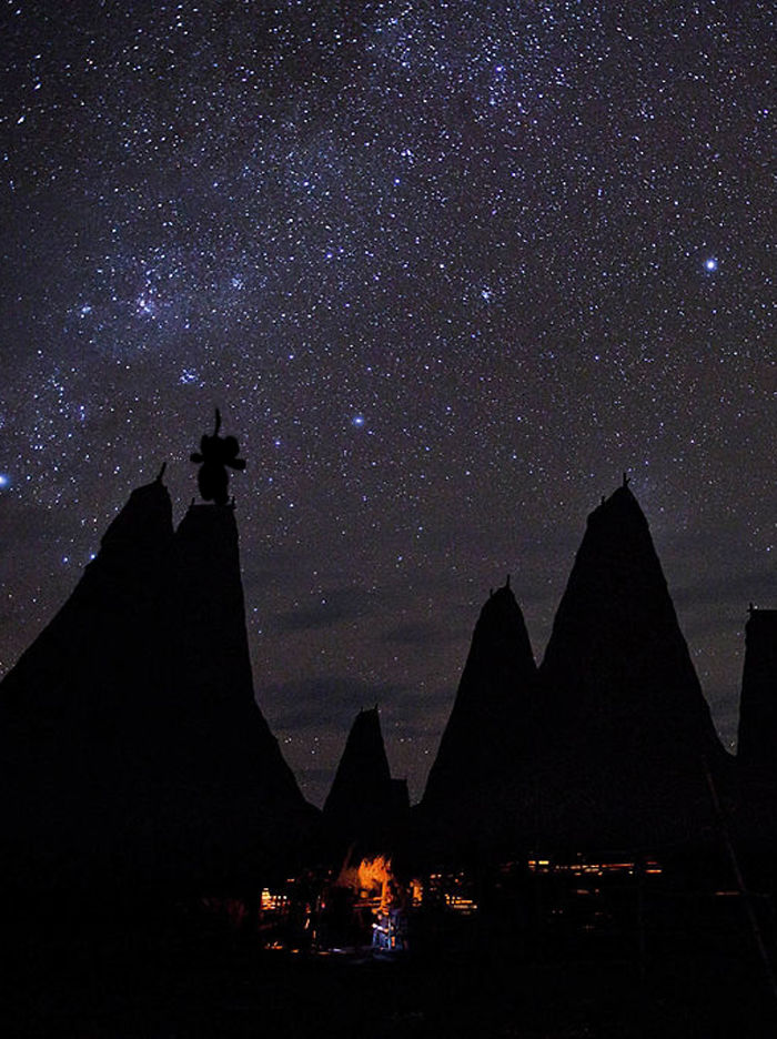 Catching Stars In Ratenggaro Village, West Sumba, Indonesia