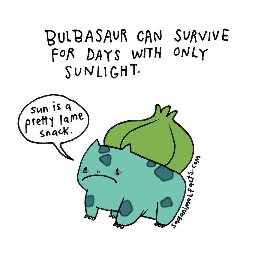 But There's No Need For Bulbasaur To Eat Anything