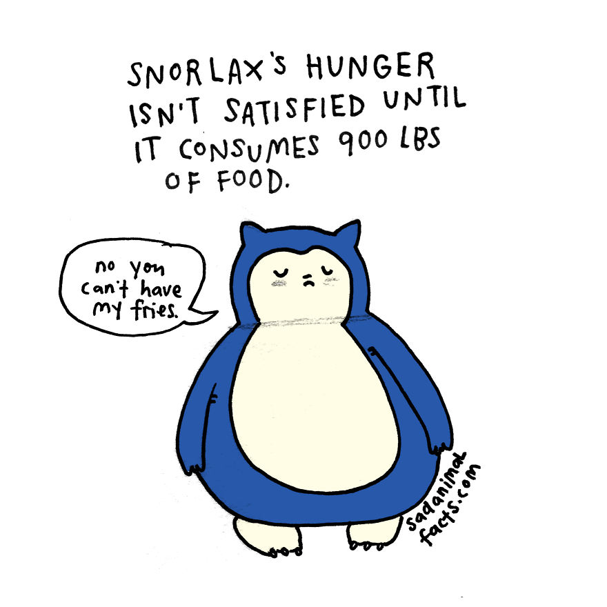 Snorlax And I Have Similar Appetites
