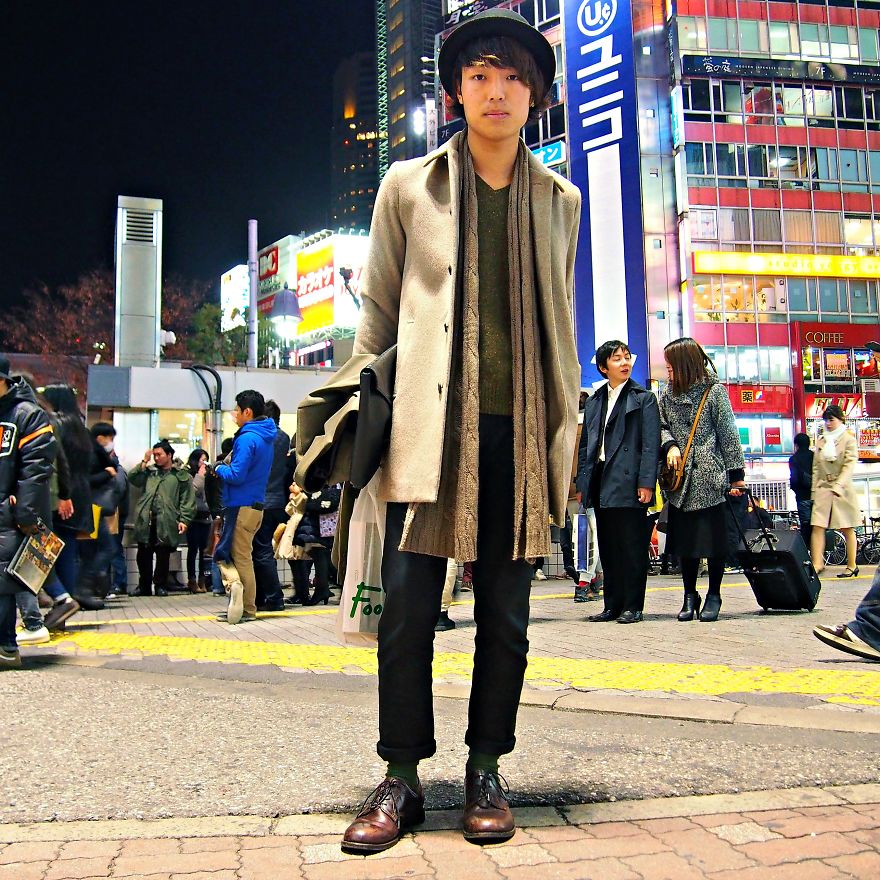 Matumoto Kousuke, Student. Shibuyia Crossing, Tokyo, Japan