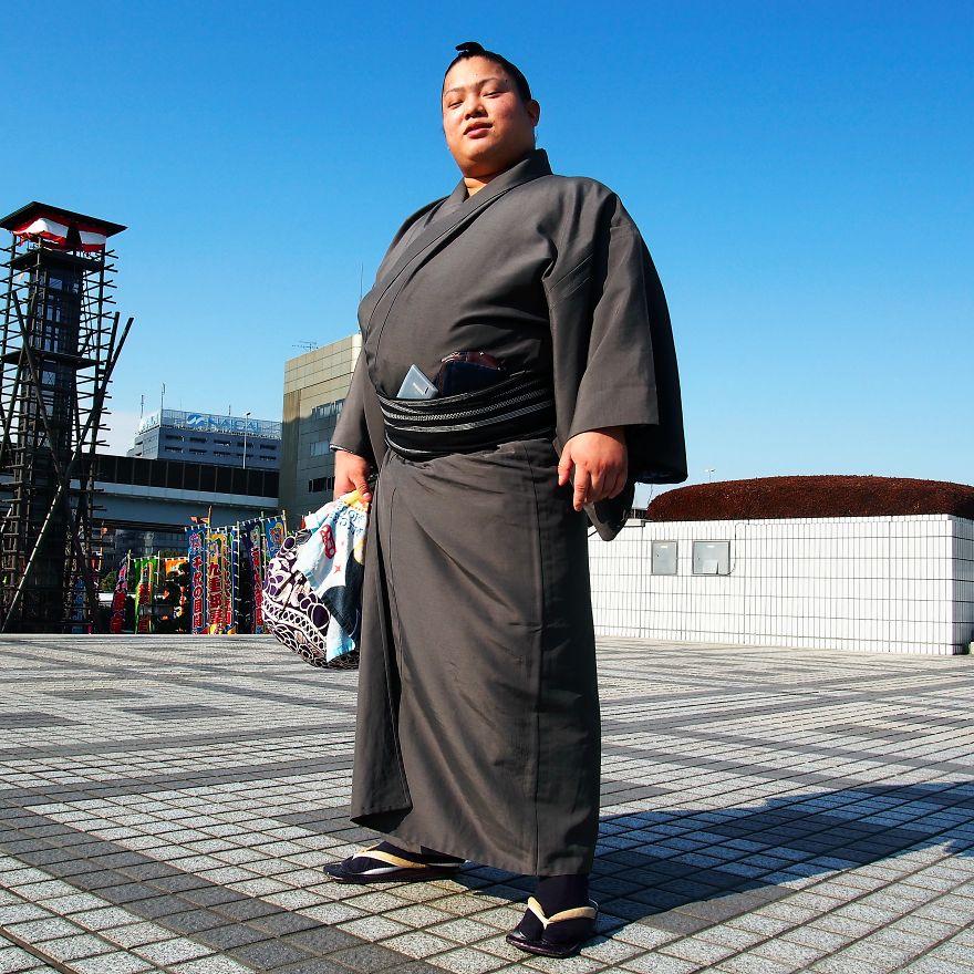 Tomisakea, Sumo Wrestler. Ryogoku, Tokyo, Japan
