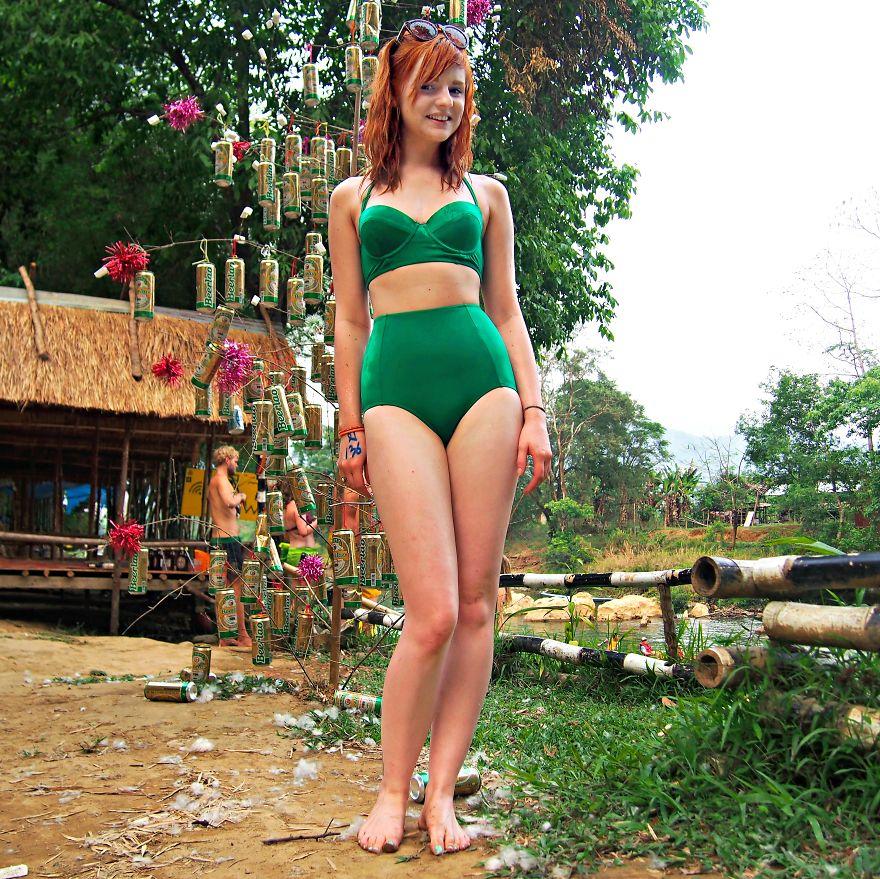 Annie, English Girl Tubing In Van Vieng, Laos