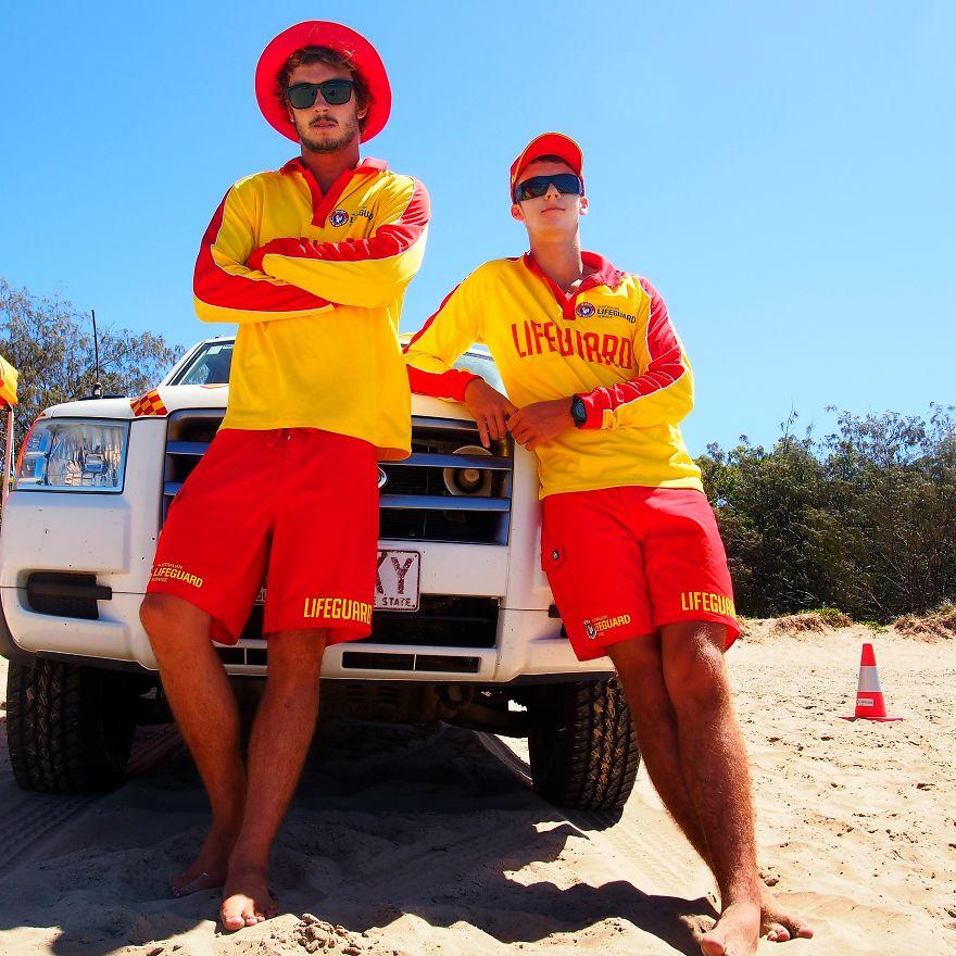 Sam And Ken, Lifeguards. Agnes Water, Queensland, Australia