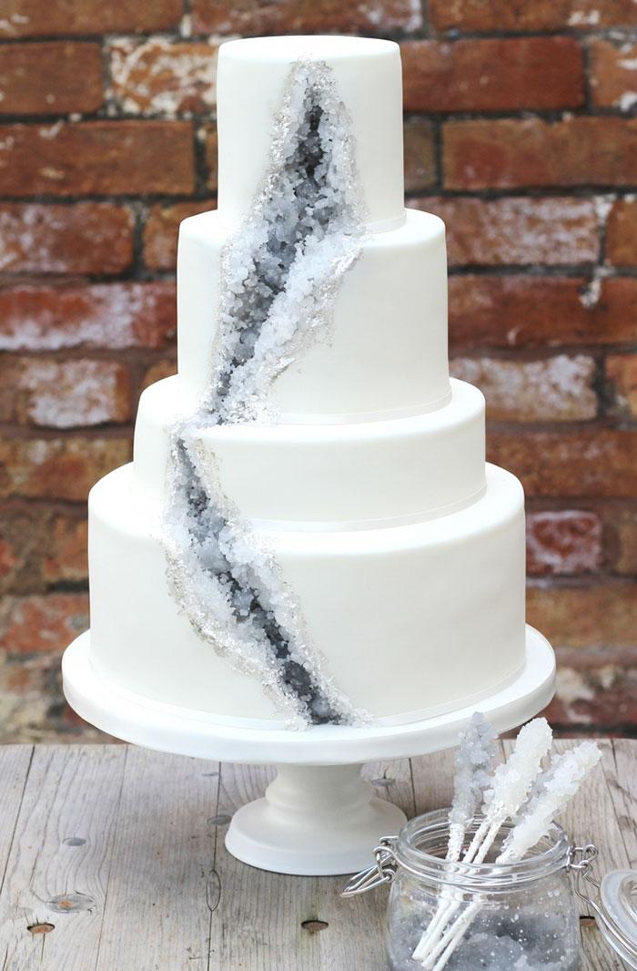 Geode Weddng Cake