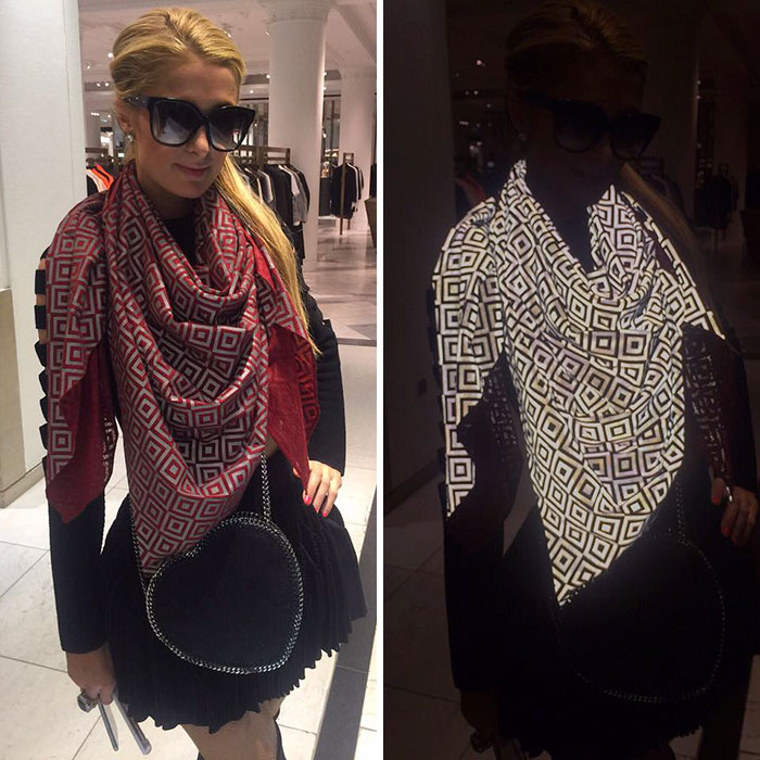 Anti-Paparazzi Scarf That Ruins Photos And Makes Flash Photography Impossible
