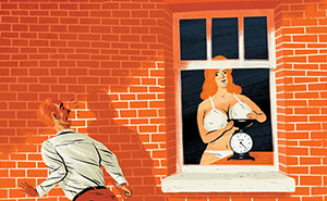Artist Illustrates 6 Of The Strangest Things Ever Spotted Through A Window