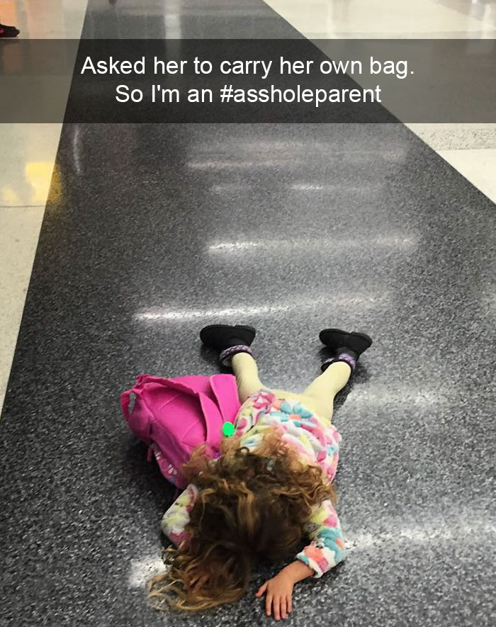 Asked Her To Carry Her Own Bag. So I'm An #assholeparent