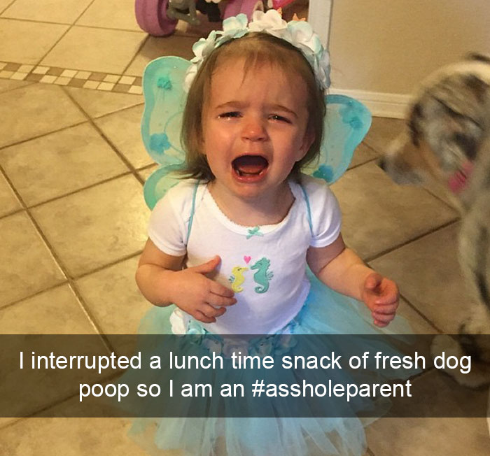 I Interrupted A Lunch Time Snack Of Fresh Dog Poop So I Am An #assholeparent