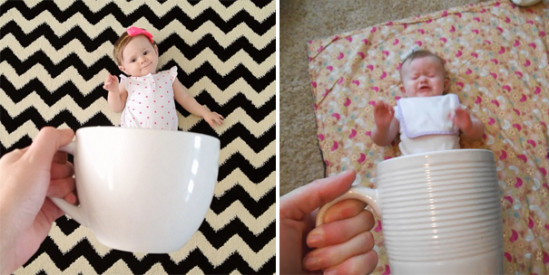 Baby in a mug. Nailed It