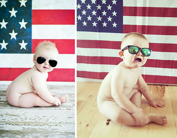 Patriotic Baby Photoshoot. Nailed It