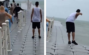 Simple Trick How To Avoid Falling Off A Floating Dock