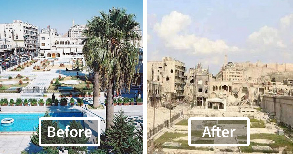 10 Before And After Pics Reveal What War Did To The Largest City In Syria