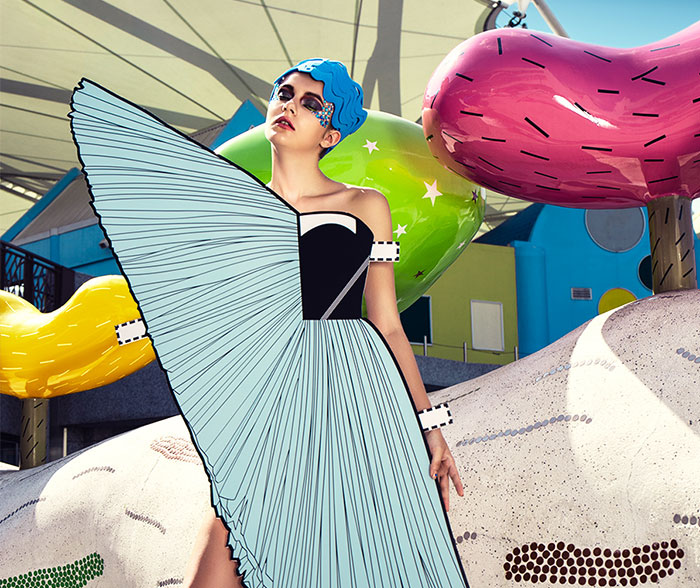 Real-Life Paper Doll: I Made 9 Paper Cutouts Inspired By Iconic Fashion Designs