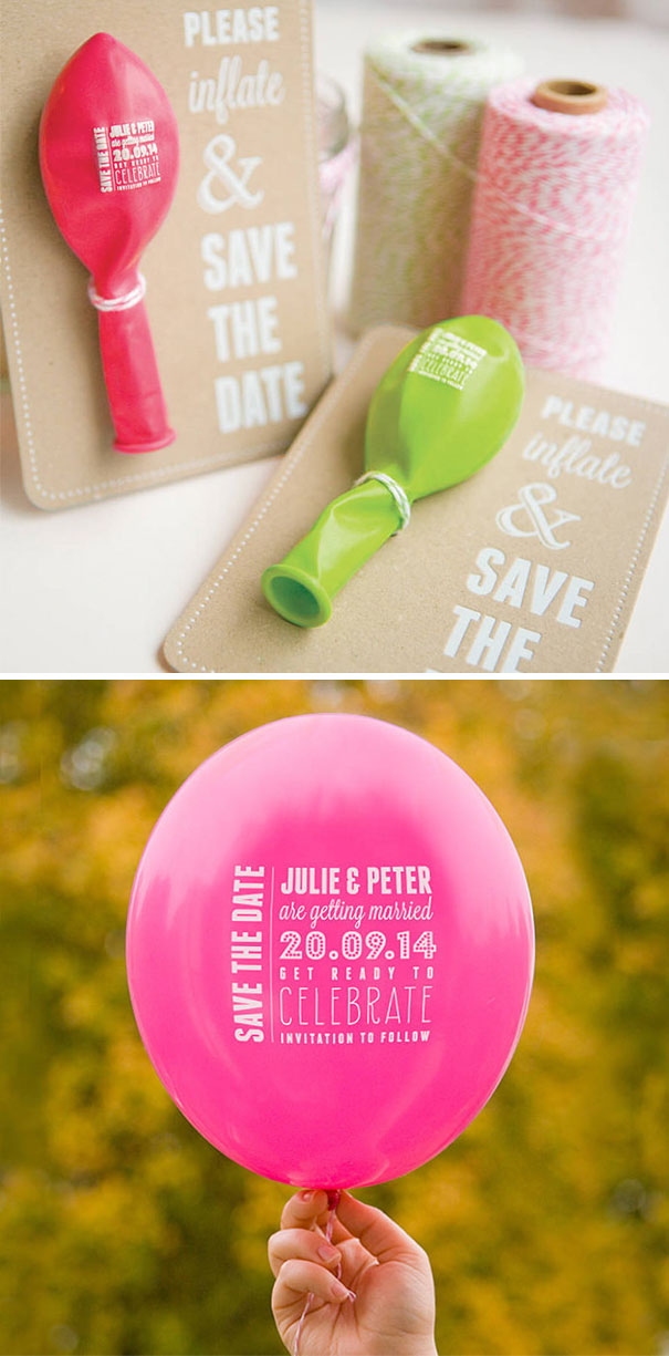 Wedding Save The Date Balloon Cards