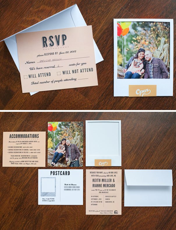 Polaroid Style Invites