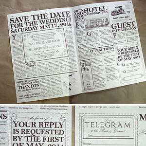 Vintage Newspaper Invitation