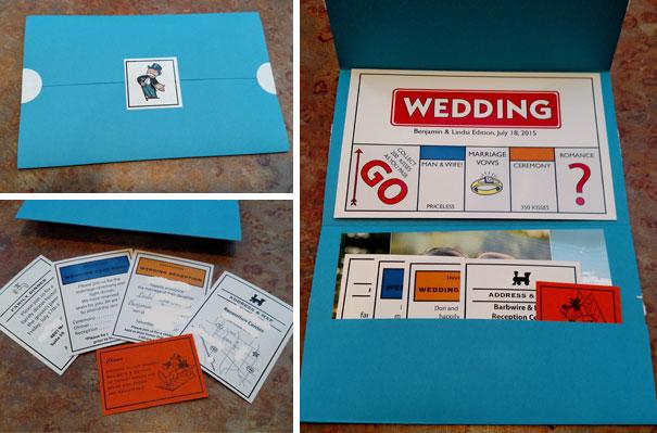 Monopoly-Themed Wedding Invitations