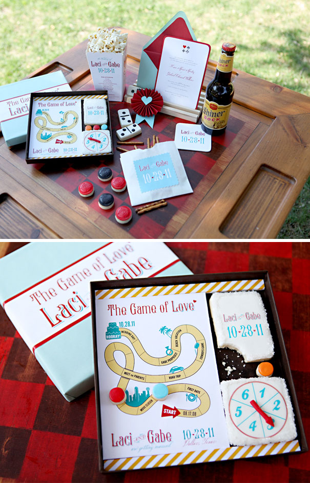 Adorable Save The Date Game With Cookies