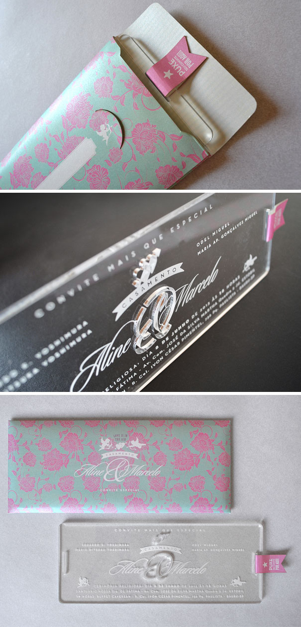 Acrylic Engraved Wedding Invitations