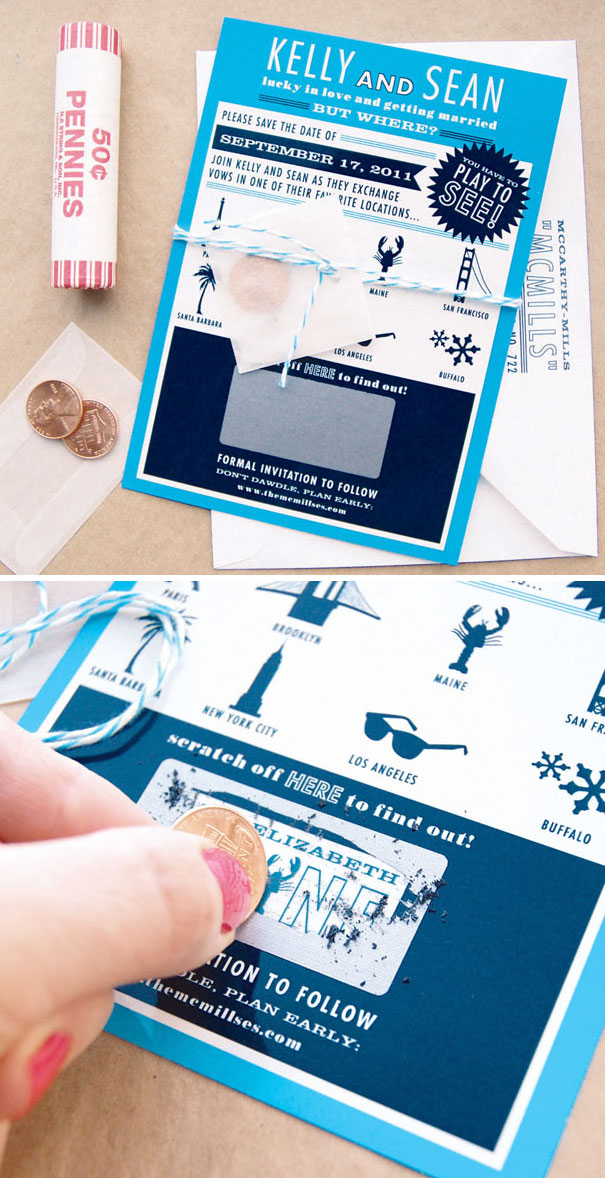 Scratch Off Wedding Save The Dates