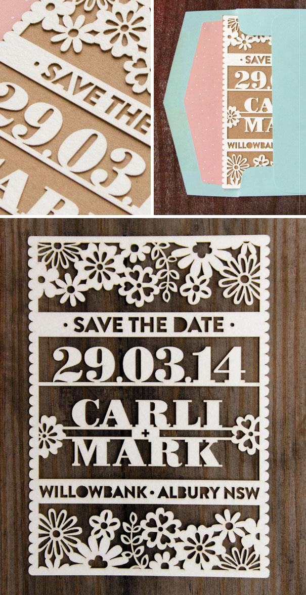 Cute Laser Cut Save The Date