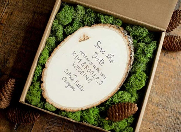 Forest-Themed Wedding Invitations