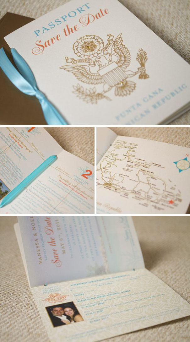 Traditional Passport Save The Date
