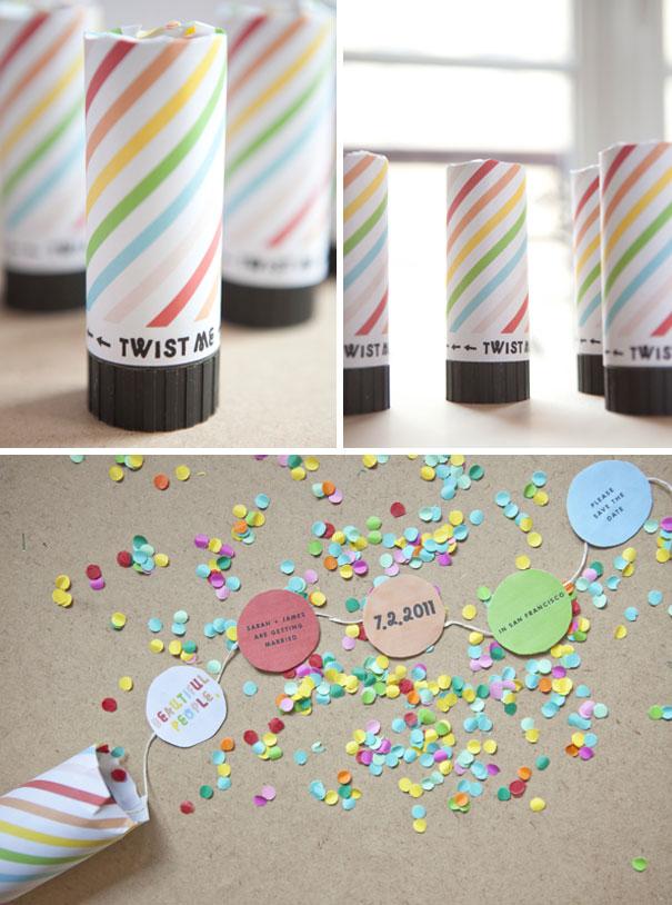 DIY Confetti Save The Date