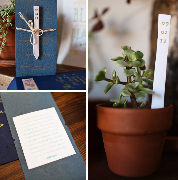 Plant Marker And Plantable Save The Dates