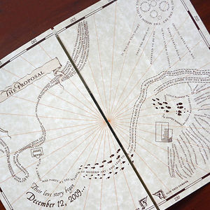 Wedding Invitations As The Marauder's Map From Harry Potter
