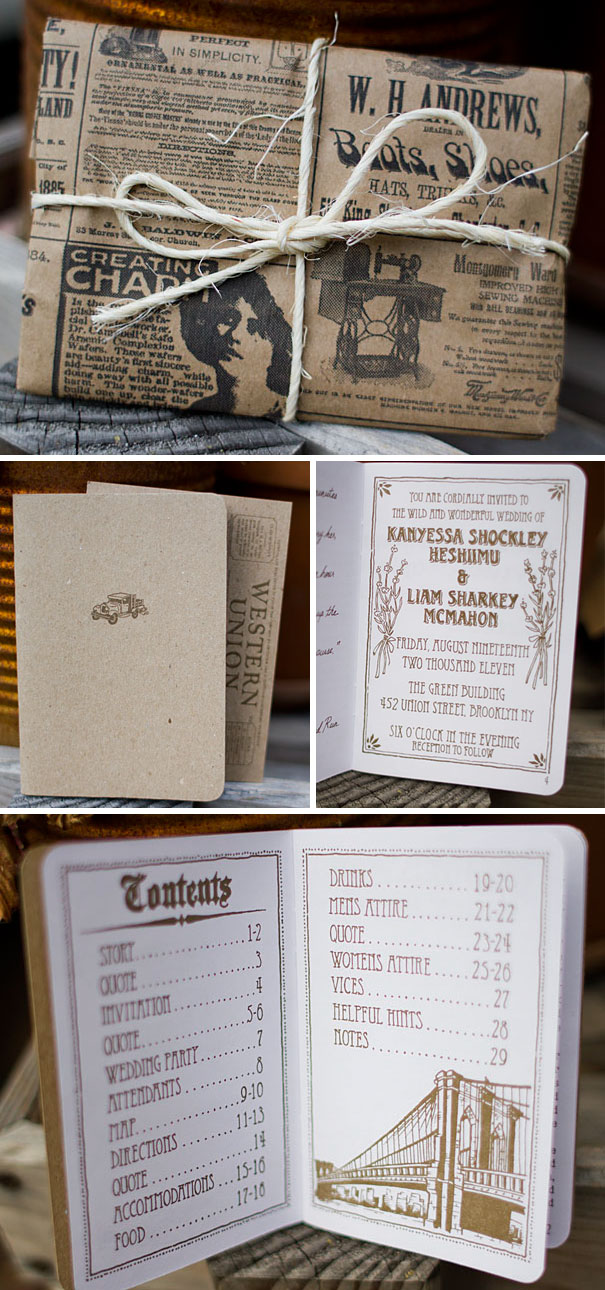 Scout Book Wedding Invitations
