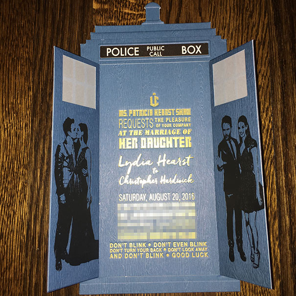 Doctor Who-Themed Wedding Invitations