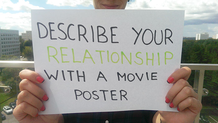 Describe Your Relationship With A Movie Poster