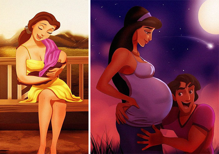 How Disney Princesses Would Look If They Were Mothers