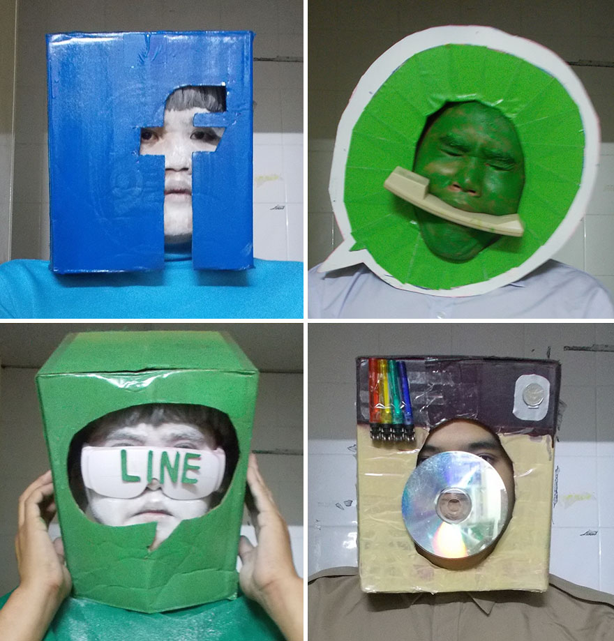 Facebook, Whats Up, Line, Instagram