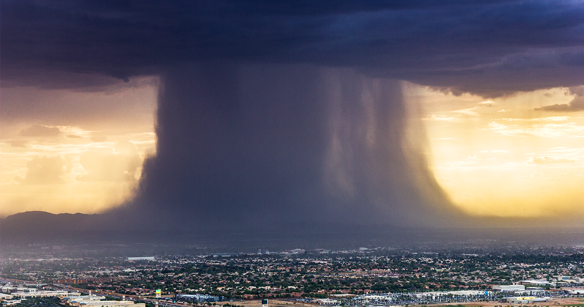Incredibly Powerful Microburst Storm Photographed Above Phoenix
