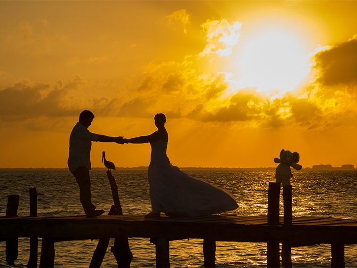 Best Elephant At A Sunset Wedding On Isla Mujeres In Mexico