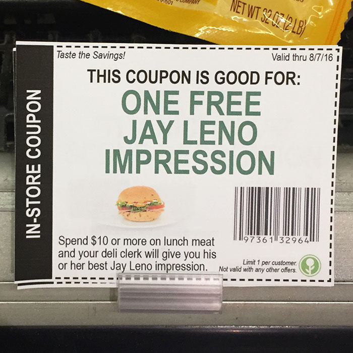 Fake In-store Coupons