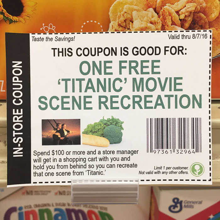 This Guy Left Some Fake In-Store Coupons At The Grocery Store