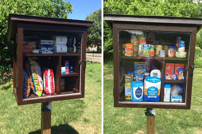 Little Street Pantry Where People Can Leave Products For Those In Need