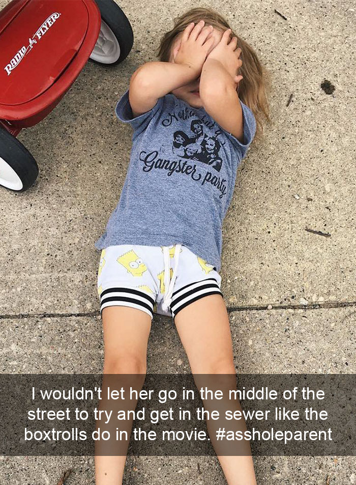 I'm An #assholeparent Because I Wouldn't Let Her Go In The Middle Of The Street To Try And Get In The Sewer Like The Boxtrolls Do In The Movie