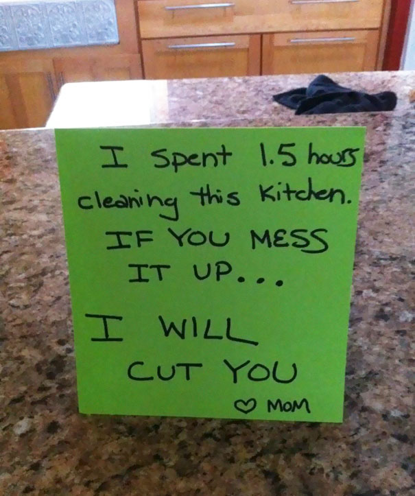 54 Of The Funniest Notes From Moms And Dads | Bored Panda