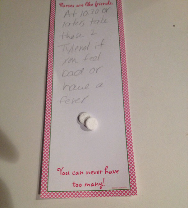 My Little Sister Has The Flu, So My Mom Is Leaving Her A Note About Her Medicine. I Think The Note Wants To Mislead Her