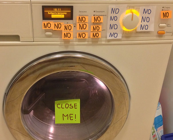 Parents Went Out Of Town For The Weekend. Mom Left Me Laundry Instructions