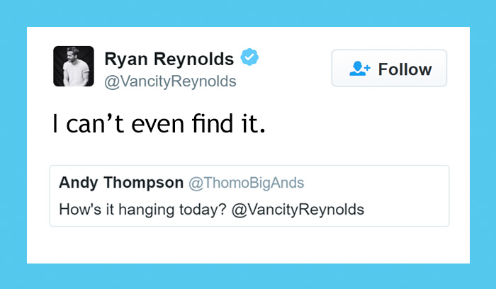 24 Times Ryan Reynold's Twitter Replies Were Pure Gold