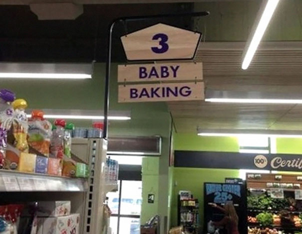 Baby Baking. It Hurts Even To Read The Sign