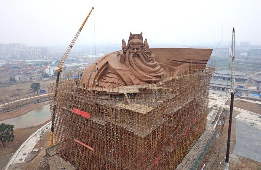 China Unveils Epic Ton God Of War Statue Current News - China unveils colossal 1320 ton god of war statue