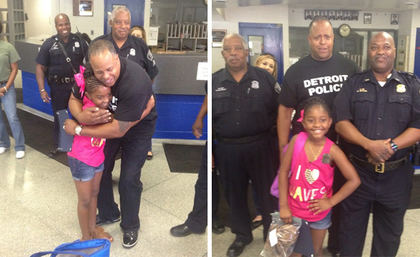 Bagged Lunches Prepped & Presented To DPD's 11th District By 9-Year-Old Girl Who Used Her B-Day Cash To Do So