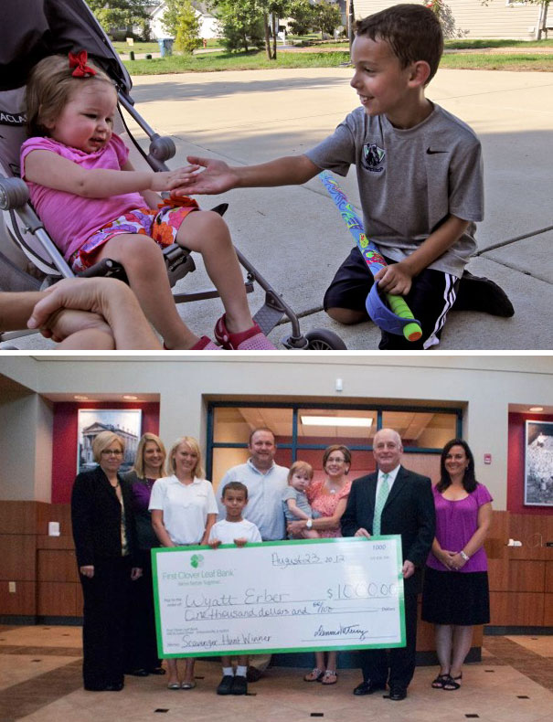 8-Year-Old Boy Won $1000 Scavenger Hunt And Donated His Winning To His Little Neighbor That Was Battling Leukemia