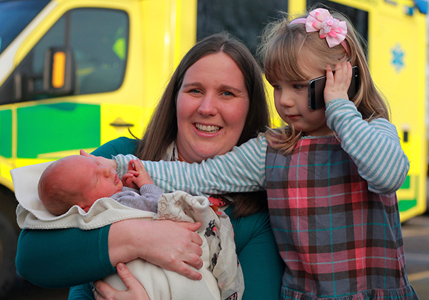 Three-Year-Old Girl Calls 999 When Her Pregnant Mom Falls Down The Stairs To Save Her and Baby's Lives